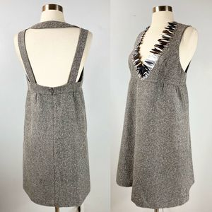 EUC✨ANNA SUI Grey Wool Halter Dress Sequin…